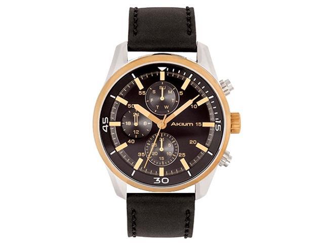 Relógio Akium Masculino Couro Preto - 03D70GL06C