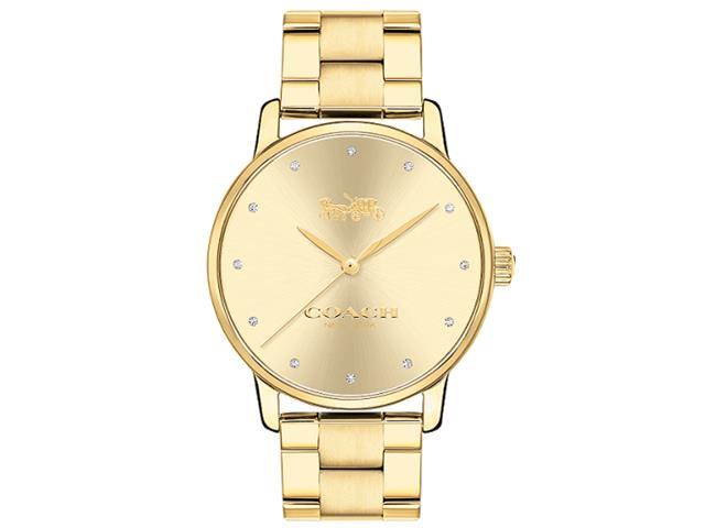 Relógio Coach Feminino Aço Dourado - 14502927