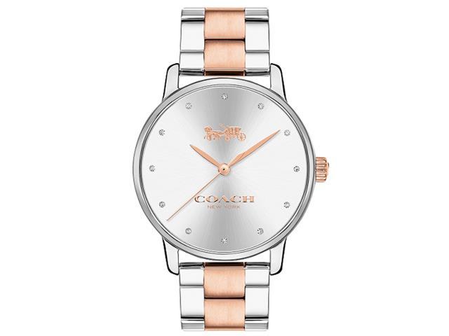 Relógio Coach Feminino Aço Prateado e Rosé - 14502930