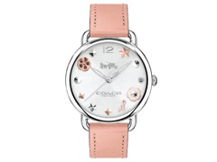 Relógio Coach Feminino Couro Rosa - 14502799