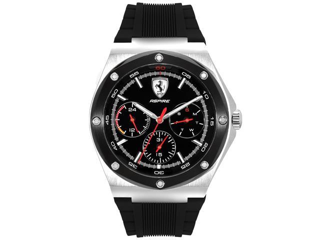 Relógio Scuderia Ferrari Masculino Borracha Preta - 830578