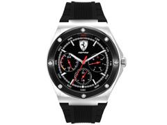 Relógio Scuderia Ferrari Masculino Borracha Preta - 830578 - 0