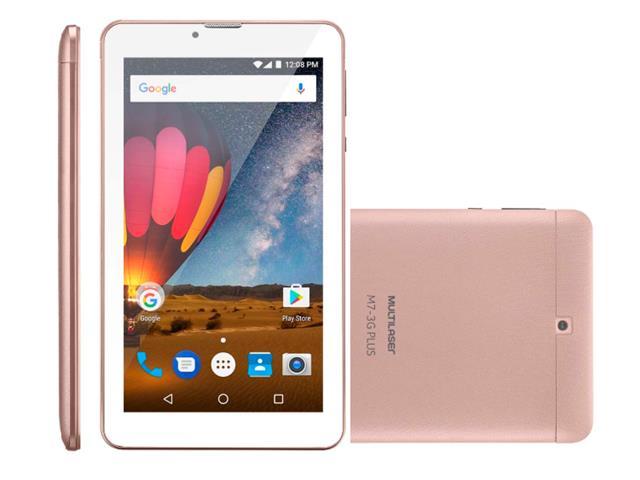 Tablet Multilaser M7 3G Plus 8GB Quad Core 1GB RAM Tela 7 Dual Rosa