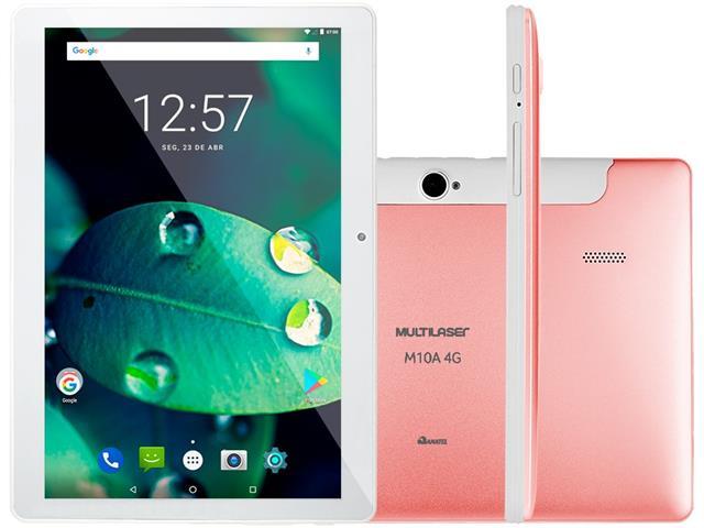 Tablet Multilaser M10 4G 16GB Android Oreo 2GB RAM Tela 10 Golden Rosé