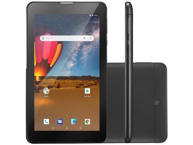 Tablet Multilaser M7 3G Plus 16GB Dual Chip 1GB RAM Tela 7 Preto