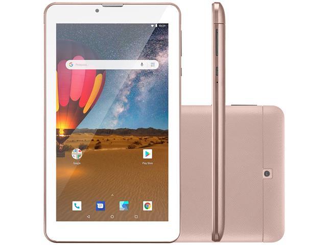 Tablet Multilaser M7 3G Plus 16GB Dual Chip 1GB RAM Tela 7 Rosa