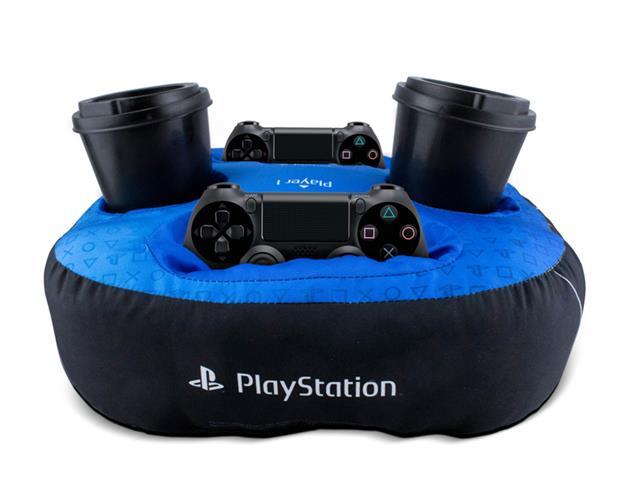 Almofada Porta Controle E Copo Kathavento Playstation