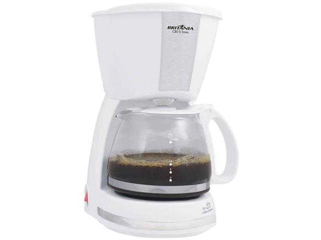Cafeteira Elétrica Britânia CB15 Branca 15 Xícaras 550W