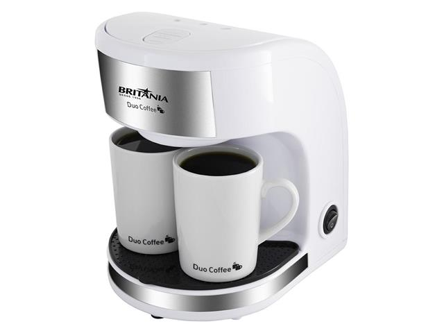 Cafeteira Elétrica Britânia Duo Coffee 2 Xícaras Branca 450W 220V