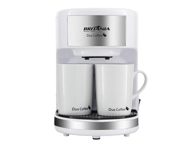 Cafeteira Elétrica Britânia Duo Coffee 2 Xícaras Branca 450W 220V - 2