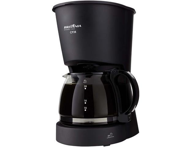 Cafeteira Elétrica Britânia CB28 Preta 28 Xícaras 750W 110V