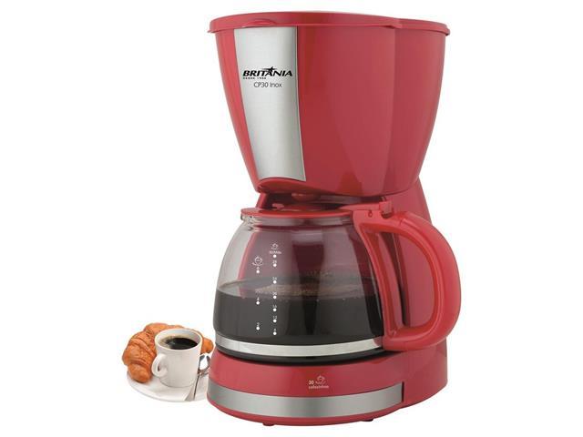 Cafeteira Elétrica Britânia CB30 Vermelha 30 Xícaras 800W 110V - 5