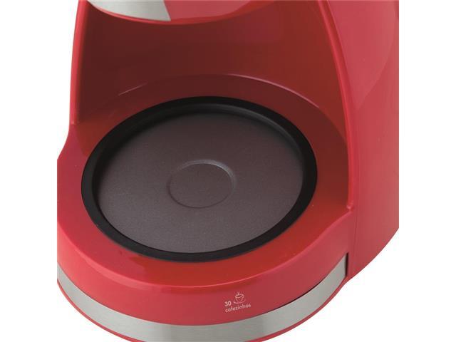 Cafeteira Elétrica Britânia CB30 Vermelha 30 Xícaras 800W 110V - 4