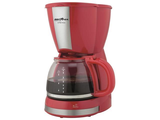 Cafeteira Elétrica Britânia CB30 Vermelha 30 Xícaras 800W 220V