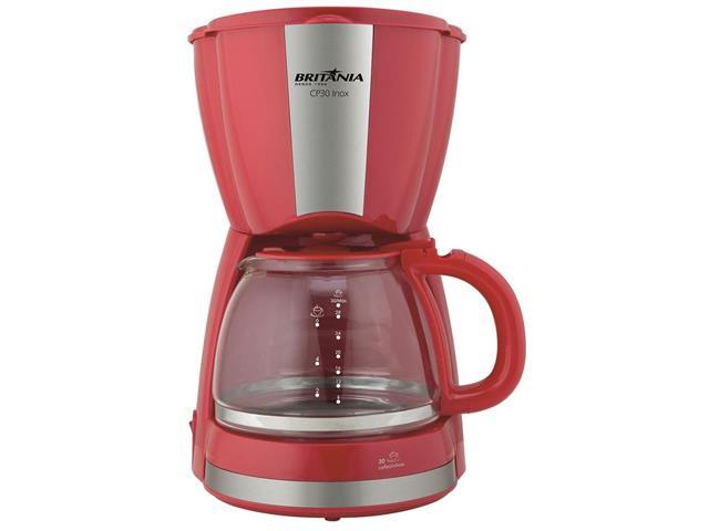 Cafeteira Elétrica Britânia CB30 Vermelha 30 Xícaras 800W 220V - 1
