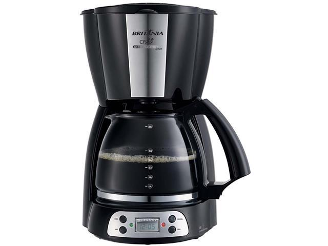 Cafeteira com Display Digital Britânia CP38 Preta 38 Xícaras 800W 110V - 1