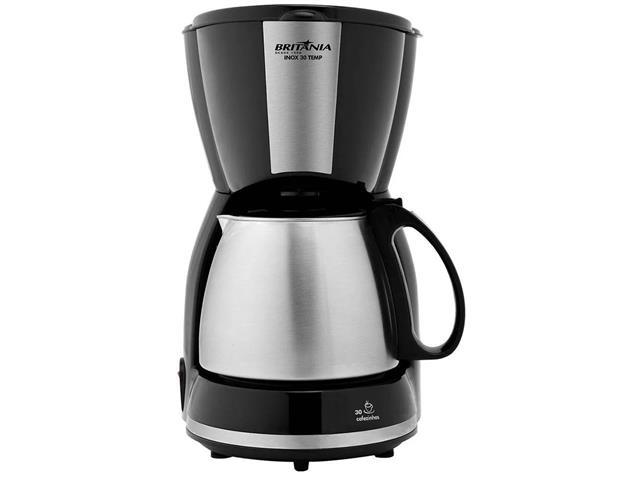 Cafeteira Elétrica Britânia CP30 Preta e Inox 30 Xícaras 800W 110V - 1