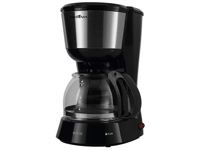 Cafeteira Elétrica Britânia BCF18I Preta 18 Xícaras 550W 220V