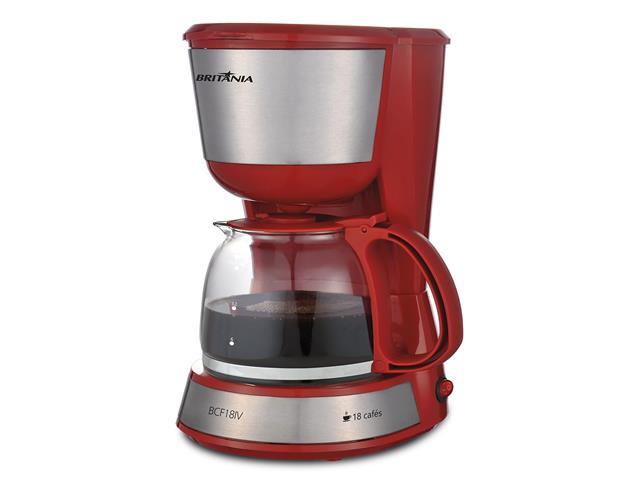 Cafeteira Elétrica Britânia Inox Plus BCF18IV Vermelha 18 Xícaras 110V - 2