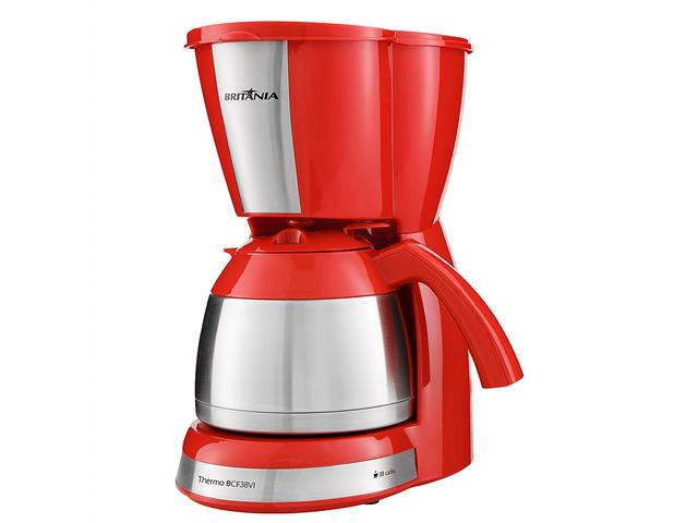 Cafeteira Elétrica Britânia Thermo BCF38VI Vermelha 38 Xícaras 110V