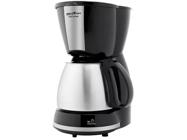 Cafeteira Elétrica Britânia CP30 Preta e Inox 30 Xícaras 800W