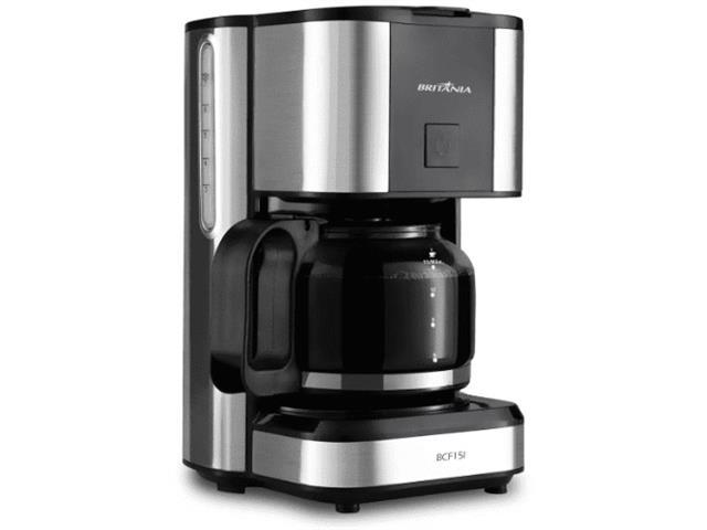 Cafeteira Elétrica Britânia BCF15I Inox e Preta 15 Xícaras 550W - 1