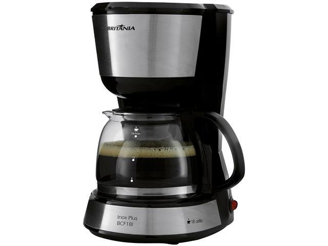 Cafeteira Elétrica Britânia Inox Plus BCF18I 18 Xícaras 550W