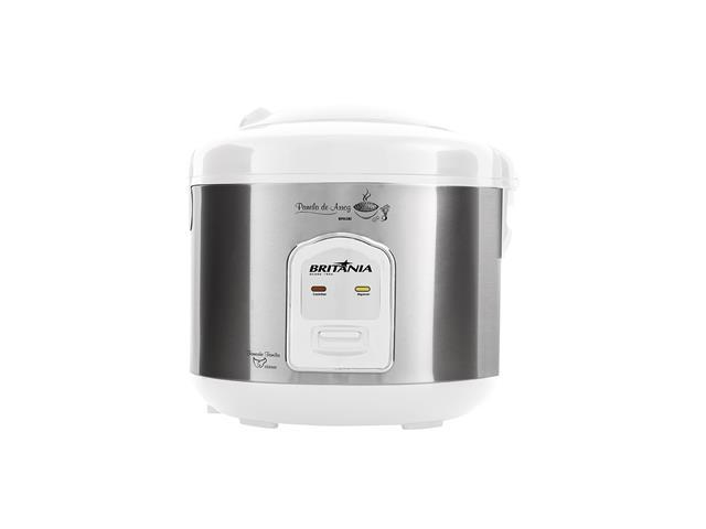 Panela de Arroz Elétrica Britânia BPA5BI 5 Xícaras Branca 400W