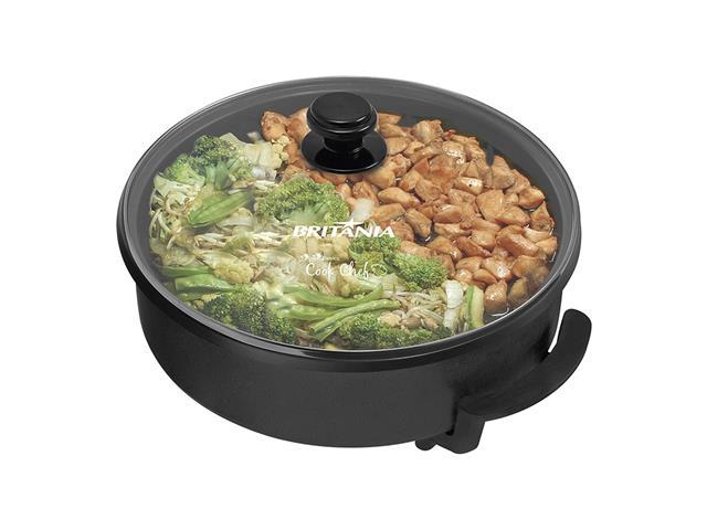 Panela Elétrica Britânia Cook Chef 5 em 1 Preta 1200W 110V