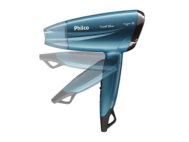 Secador de Cabelo Philco Travel Blue PSC02 1200W Bivolt - 1