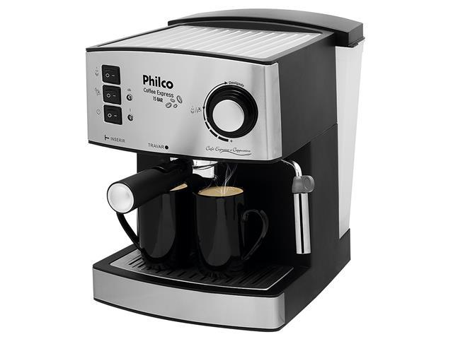 Cafeteira Elétrica Philco Coffee Express 15 Bar Prata 850W