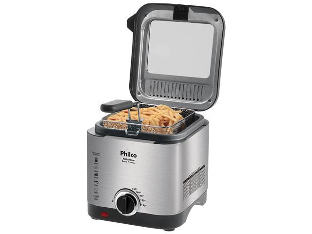 Fritadeira com Óleo Philco Deep Fry Inox 1,8 Litros 900W - 2