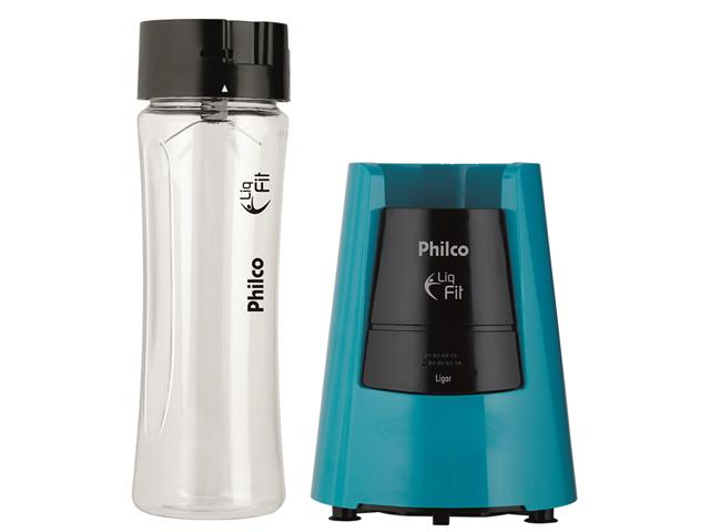 Liquidificador Philco Liq Fit com 2 Squeezes 600ml Azul 300W - 2