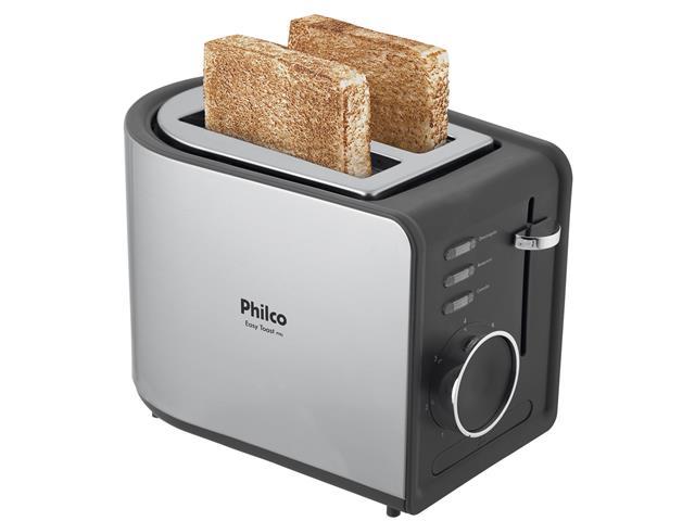Torradeira Elétrica Philco R2 Easy Toast Preta 850W