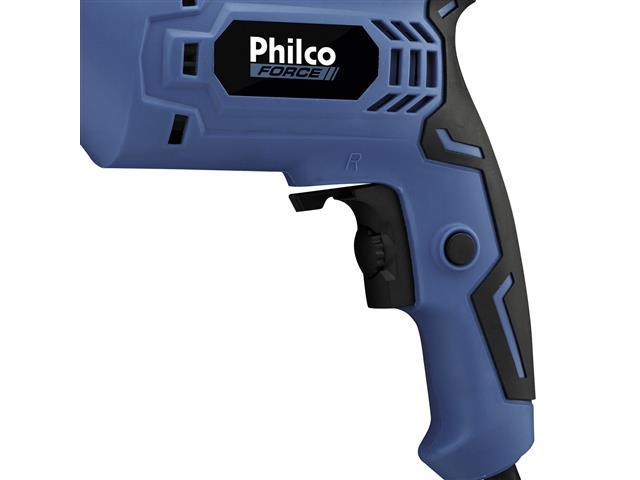 Furadeira de Impacto Philco Force 3/8 PFU01 Azul 650W - 2