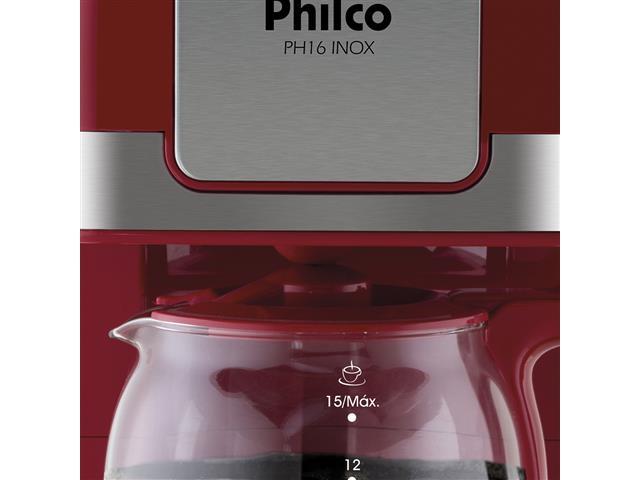 Cafeteira Elétrica Philco PH16 Vermelha e Inox 15 Xícaras 550W 110V - 4