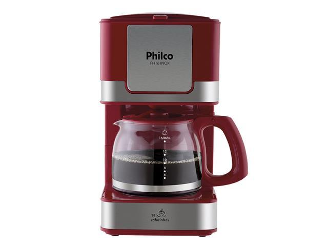 Cafeteira Elétrica Philco PH16 Vermelha e Inox 15 Xícaras 550W 110V - 2
