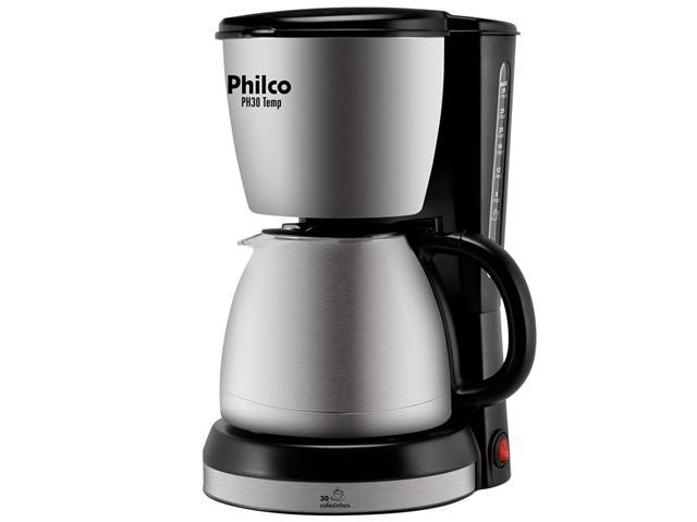 Cafeteira Elétrica Philco PH30 Temp Aço Escovado 30 Xícaras 800W