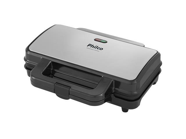 Grill e Sanduicheira Inox Philco PGR02I 900W 110V