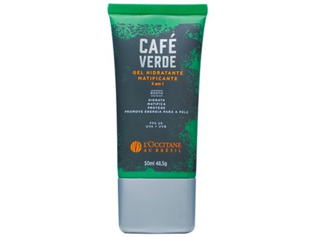 Gel Hidratante Matificante 5 em 1 Café Verde L'Occitane au Brésil 50ml
