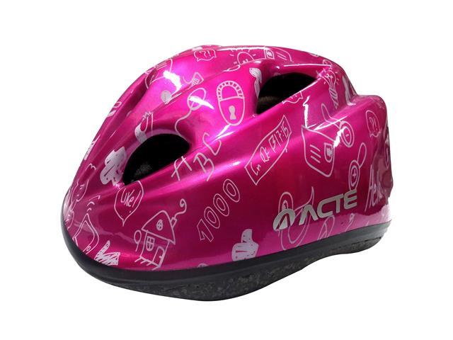 Capacete para Ciclismo Infantil Acte A50-RS Kids Rosa