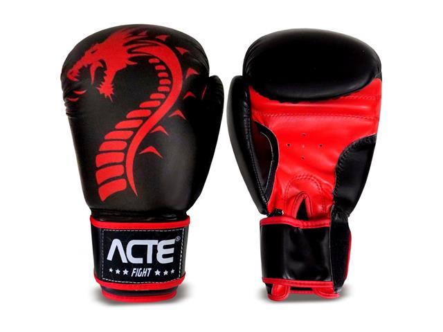 Luvas de Boxe Dragon Acte P4-10 Tamanho 10 Vermelho - 1