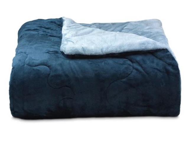 Edredom Buettner Dupla Face Casal Plush Flanel Azul