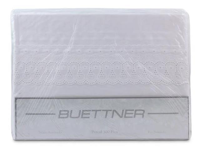 Jogo de Cama Casal Buettner 300 Fios Renascença 4 Peças Branco - 3
