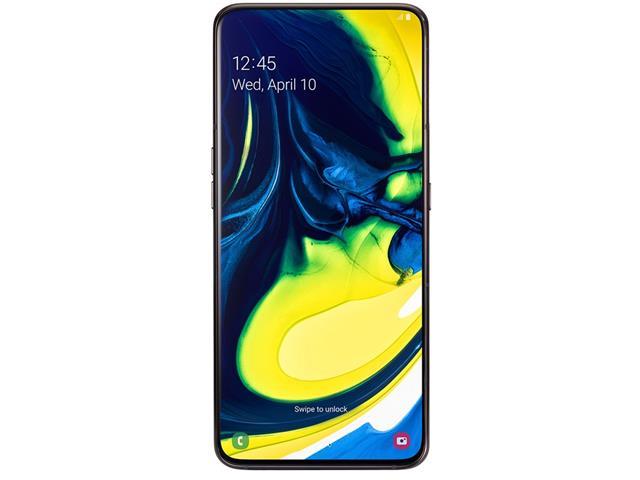 "Smartphone Samsung Galaxy A80 128GB 8GB 6.7""Câm 48+8+Rotativa 3D Preto - 3"
