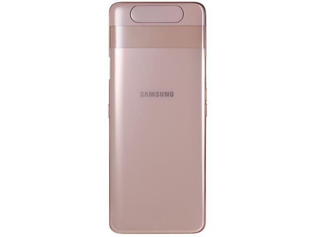 "Smartphone Samsung Galaxy A80 128GB 8GB 6.7""Câm 48+8+Rotativa 3D Rosê - 6"