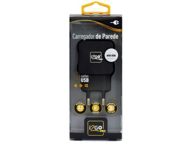 Carregador USB Tomada de parede i2GO PRO duas Saídas - 2