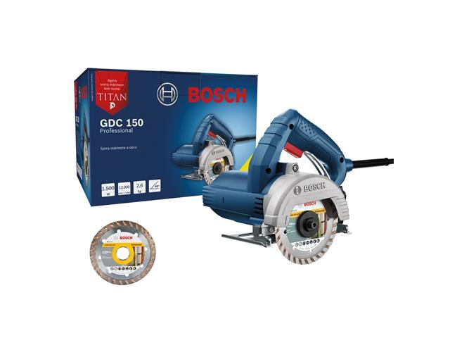 Serra Mármore Bosch GDC 150 Titan com 2 Discos 1500W - 1
