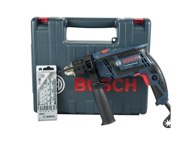Furadeira de Impacto Bosch 113D GSB 13 RE com 5 Brocas e Maleta