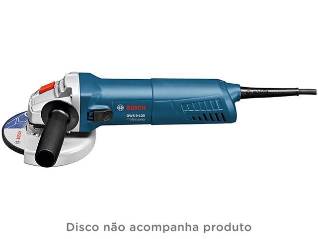 """Mini Esmerilhadeira Angular Bosch GWS 9-125 5/8"""" 900W - 1"""